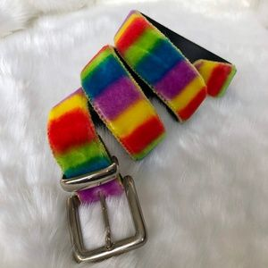 Vintage Fuzzy Multicolored Festival Belt
